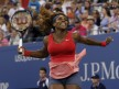 Serena Williams of the U.S. celebrates after defeating Victoria Azarenka of Belarus in their women's singles final match at the U.S. Open tennis championships in New York September 8, 2013.