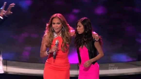 JLo and Jessica Sanchez