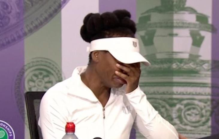 Venus Williams burts into tears: 'I'm completely speachless'