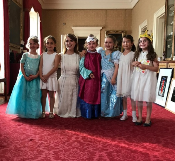 Harper Beckham Celebrates Birthday With Princess Eugenie at Buckingham Palace