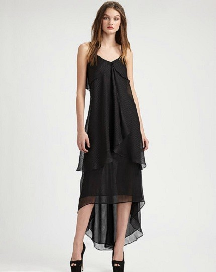 Chiffon Hi-Lo Hem Dress