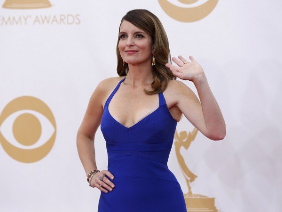 Tina Fey in Narciso Rodriguez. She wore red last year in Vivian Westwood