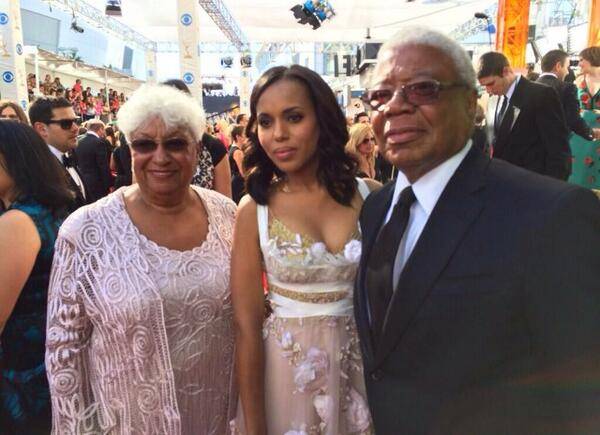 Kerry Washington and her parents