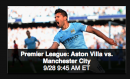 Premier League: Aston Villa vs. Manchester City