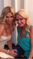 Brandi Glanville, left, and Kim Richards