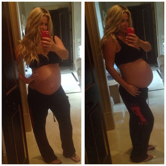 Kim Zolciak Baby Bump Instagram Picture