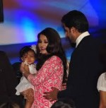 Aishwarya Rai Bachchan and Abhishek Bachchan with Daughter Aaradhya