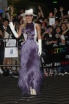Lady Gaga in Hairy Purple Dress