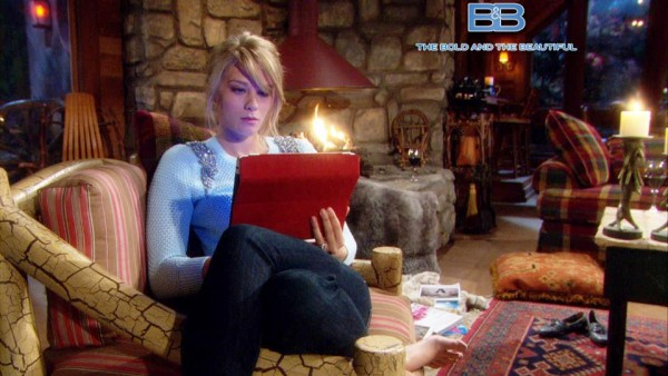 Hope (Kim Matula) Watching the Video Liam Made for Steffy on 'Bold and the Beautiful'