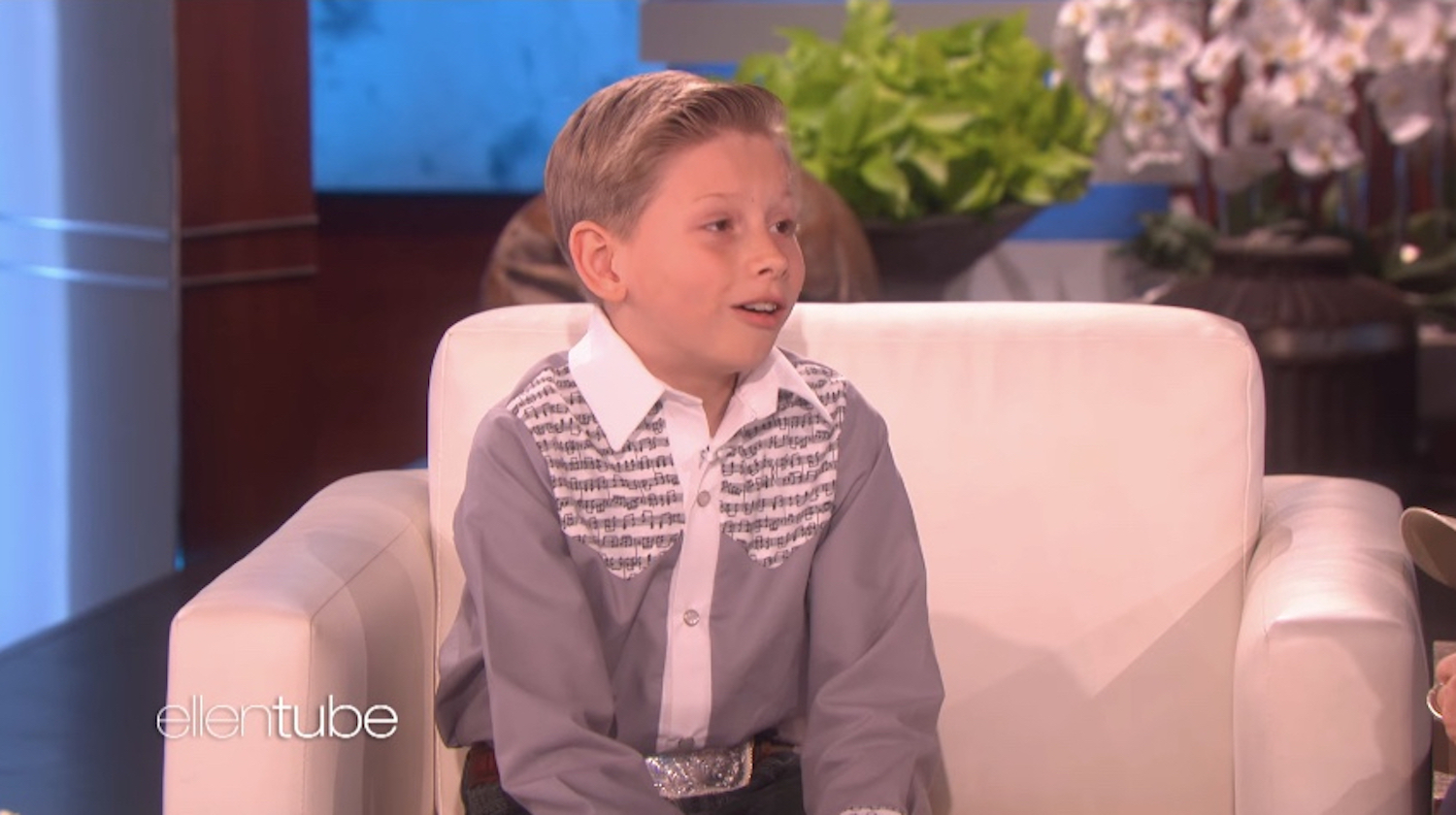 'Yodeling Kid' goes from Walmart to Ellen