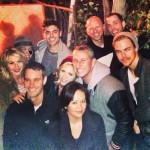 Zac Efron, Brittany Snow, Derek Hough, Julianne Hough, and Adam Shankman at Haunted Hayride