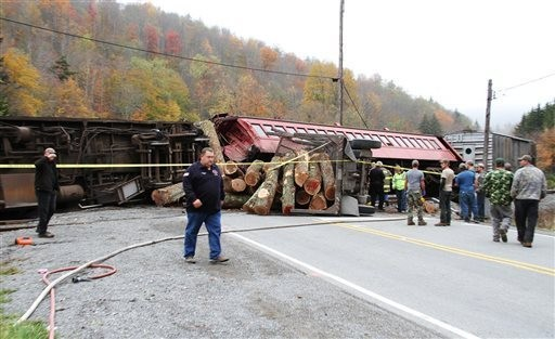 Train Crash Scene in West Virginia