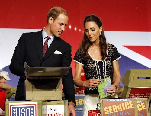 Britain's Prince William and his wife Catherine in California