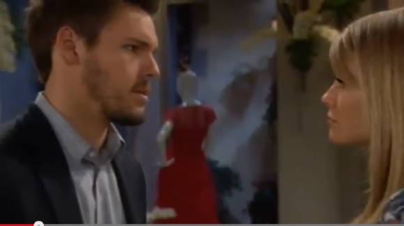 Liam (Scott Clifton) trying to convince Hope (Kim Matula) to get back together with him on 'The Bold and the Beautiful'