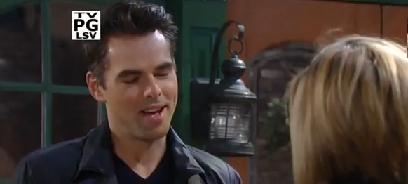 Patrick sharing the news that he is now engaged to Sabrina on 'General Hospital'