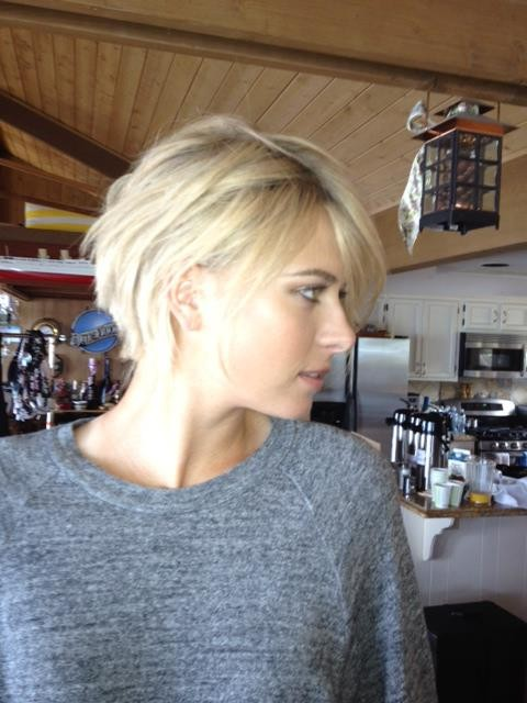 Maria Sharapova showed off on Facebook her new short haircut. (Credit: Facebook/Sharapova)