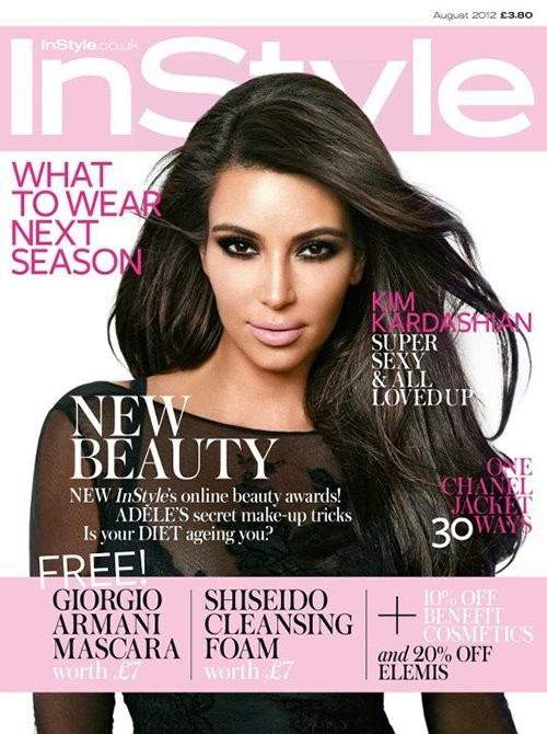 Kim Kardashian Covers InStyle UK | Source:http://celebrity-gossip.net