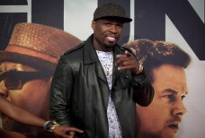 "Rapper Curtis ""50 Cent"" Jackson arrives for the premiere of the movie '2 Guns' in New York, July 29, 2013."