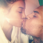 Karrueche Tran kissing Chris Brown