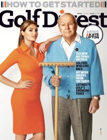 Kate Upton with Arnold Palmer on the cover of Golf Digest's December 2013 issue