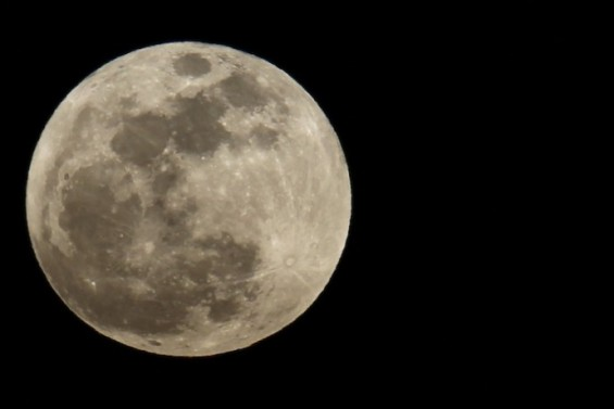 "The full ""super Moon"" rises over Los Angeles"