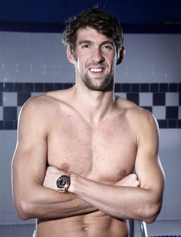 U.S. gold medal swimmer Michael Phelps poses for a portrait in New York