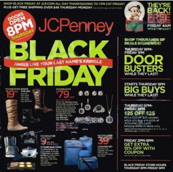 JC Penney Black Friday 2013 Ad. Sale Starst 8 p.m.
