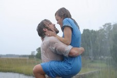 "Ryan Gosling in the iconic scene from 'The Notebook,' in 2004; Co-starring Rachel McAdams; ""It wasn't over. It Still isn't over."""