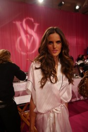 Iza Goulart  backstage at the 2013 Victoria's Secret Fashion Show
