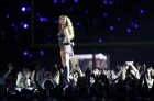 Beyonce and Destiny's Child perform during the half-time show of the NFL Super Bowl XLVII football game in New Orleans, Louisiana, in this February 3, 2013, file photo.