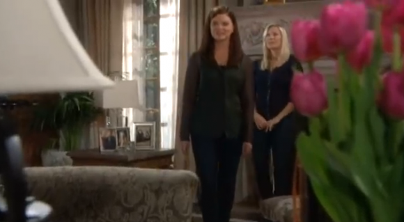 Katie and brooke discussing revenge on Bill on 'The Bold and the Beautiful""