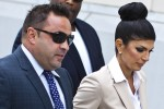 "Teresa Giudice, 41, and her husband Giuseppe ""Joe"" Giudice, 43, arrive at the federal court in Newark, New Jersey August 14, 2013."