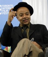 "Author James McBride gestures during the ""Miracle at St. Anna"" news conference at the 33rd Toronto International Film Festival September 7, 2008."