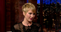 Jennifer Lawrence on The Late Show on Wednesday, Nov. 20