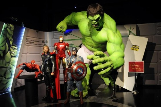 The Avengers figures. Reuters