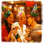 Miley Cyrus celebrating her 21st birthday backstage at the American Music Awards