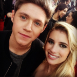 Emma Roberts and Niall Horan at the 2013 American Music Awards