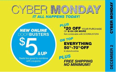 New York and Company Cyber Monday Ad
