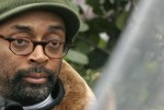 """Film director Spike Lee poses during the making of his film, """"Miracle at St. Anna"""", at Piazza del Popolo in downtown Rome, November 28, 2007."""