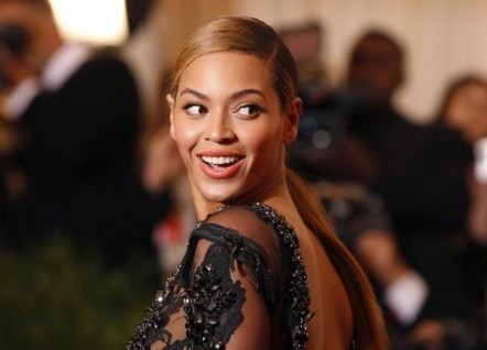 "Singer Beyonce arrives at the Metropolitan Museum of Art Costume Institute Benefit celebrating the opening of the ""Schiaparelli and Prada: Impossible Conversations"" exhibition in New York, May 7, 2012"