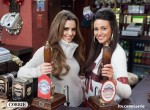 Cheryl Cole and Michelle Keggan pullin pints for a special episode of 'Coronation Street'
