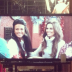 Michelle Keegan and Cheryl Cole filming a scene for 'Coronation Street'
