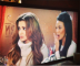 Cheryl Cole and Michelle Keegan filming a second scene for 'coronation street'