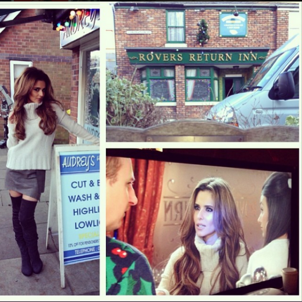cheryl-cole-collage-of-behind-the-scenes-photos-from-coronation-street