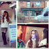 Cheryl Cole collage of behind-the-scenes photos from 'Coronation Street'