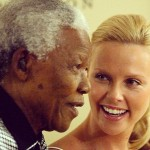 Charlize Theron and Nelson Mandela