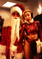 Miley Cyrus and her 'Bad Santa' at the KIIS FM Jingle Ball in Log Angeles