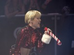 Miley Cyrus performs during KIIS FM's Jingle Ball concert at the Staples Center in Los Angeles, California
