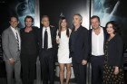 From L to R: President, Creative Development and Worldwide Production, Warner Bros. Pictures, Greg Silverman, screenwriter Jonas Cuaron, actors George Clooney and Sandra Bullock, director Alfonso Cuar