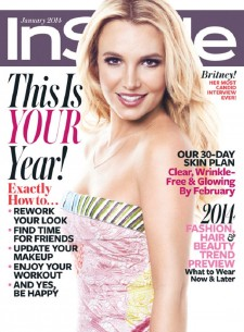 Britney Spears InStyle January 2014 cover